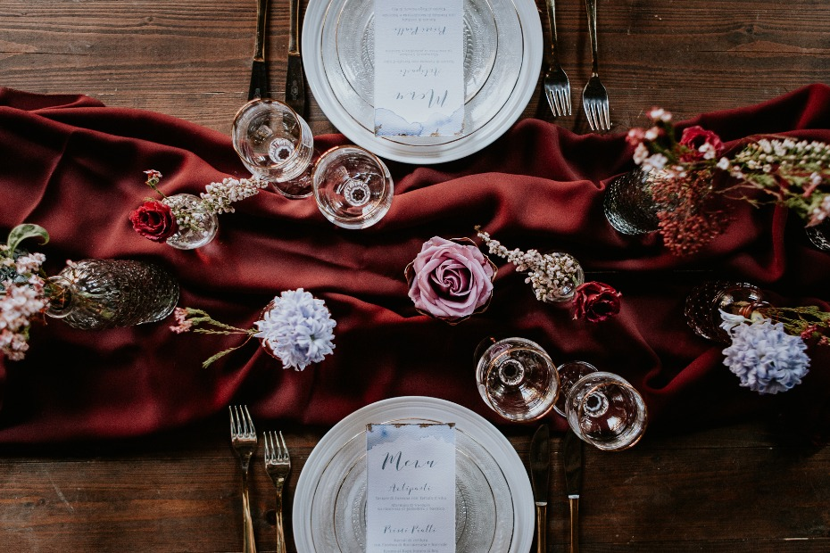 deep fall colors for your wedding table