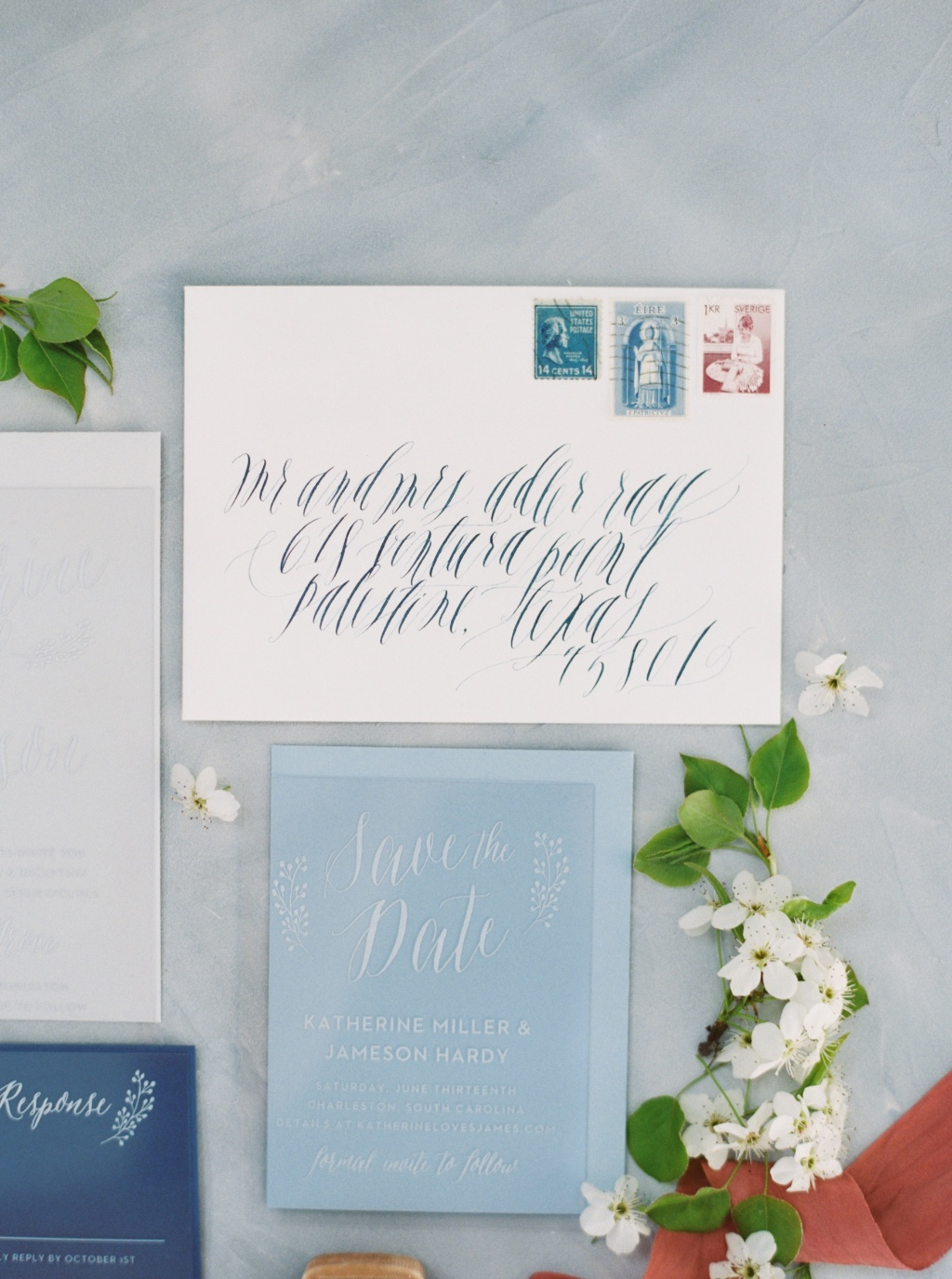 Don't forget to save the date and even better - pair that save the date with a pretty calligraphy addressed envelope for an extra special