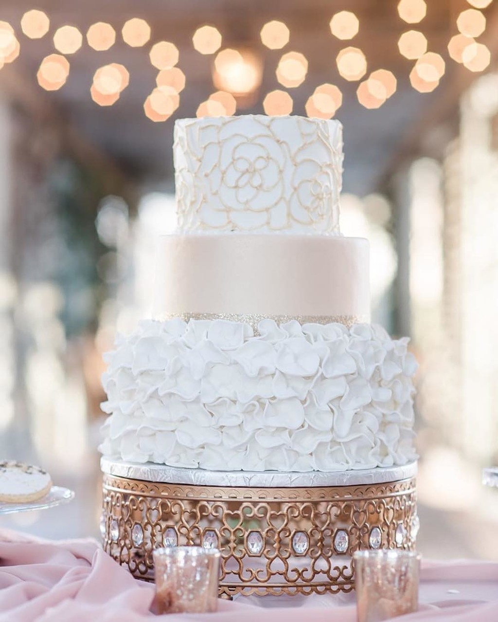 Our Moroccan Jeweled Cake Stand was featured on @weddingchicks