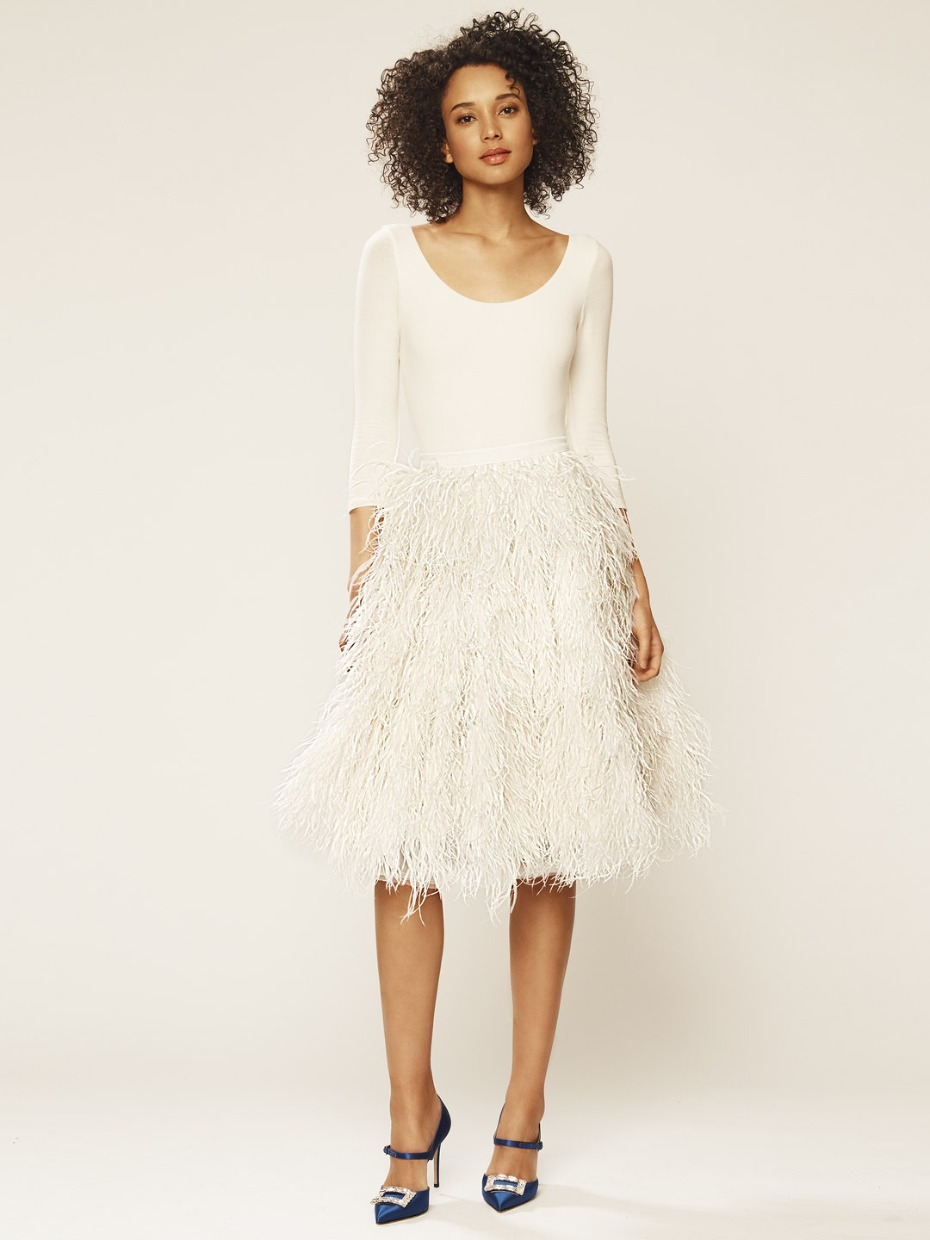 SJP X Gilt Bridal Collection Feather Skirt