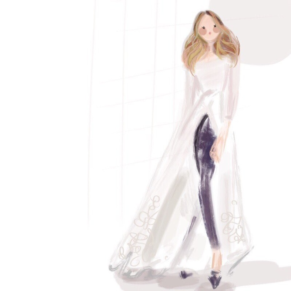 Sarah Jessica Parker Bridal Collection Art Sketch Photo by Art Design By Brooke