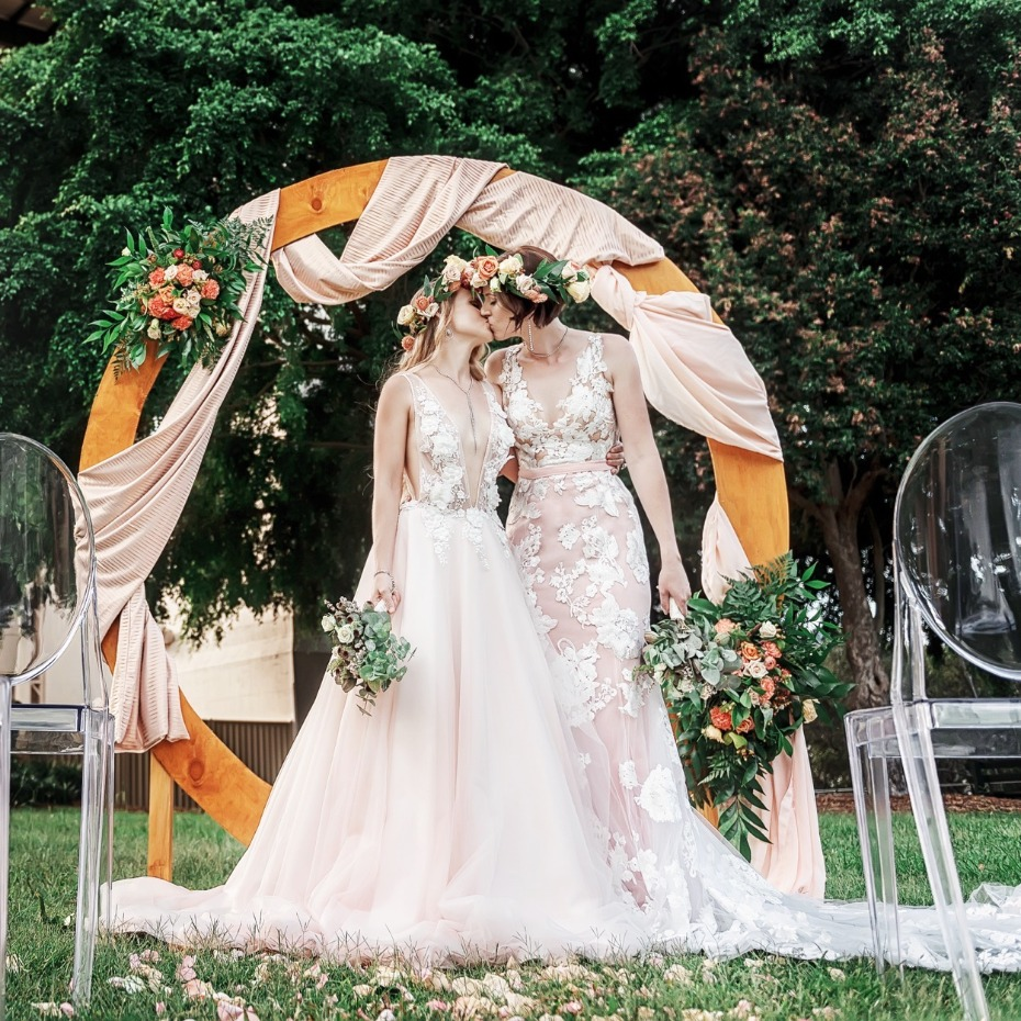 Gorgeous wedding dresses from Goddess By Nature