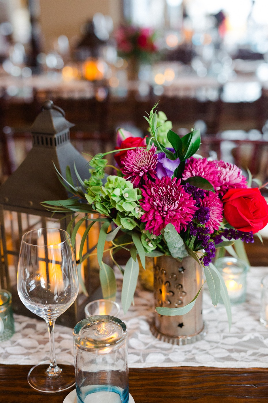 hot pink green and purple wedding floral ideas