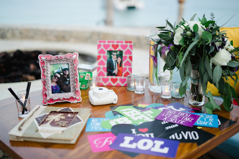 guestbook and wedding welcome table