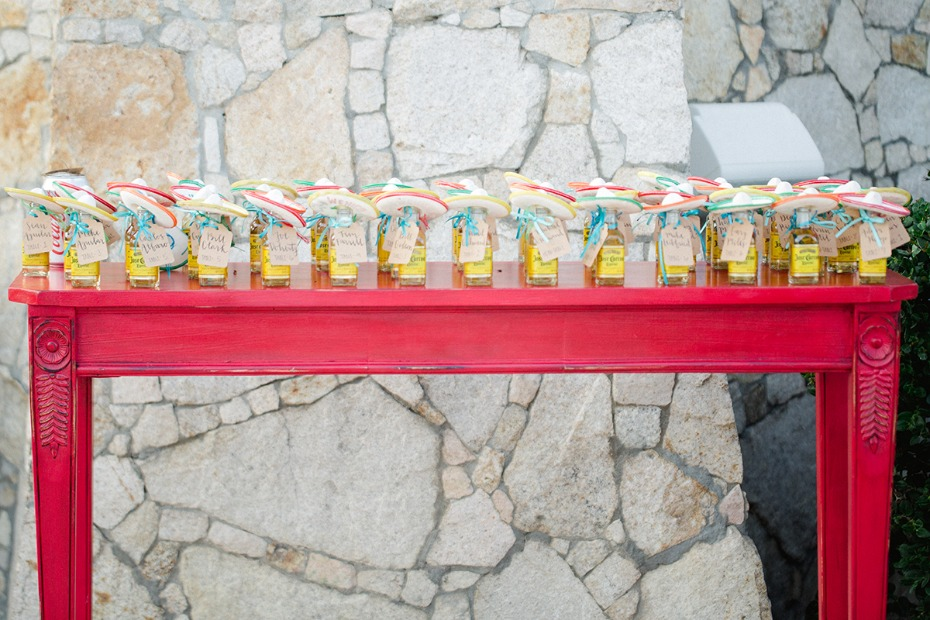 cute Jose Cuervo wedding favors