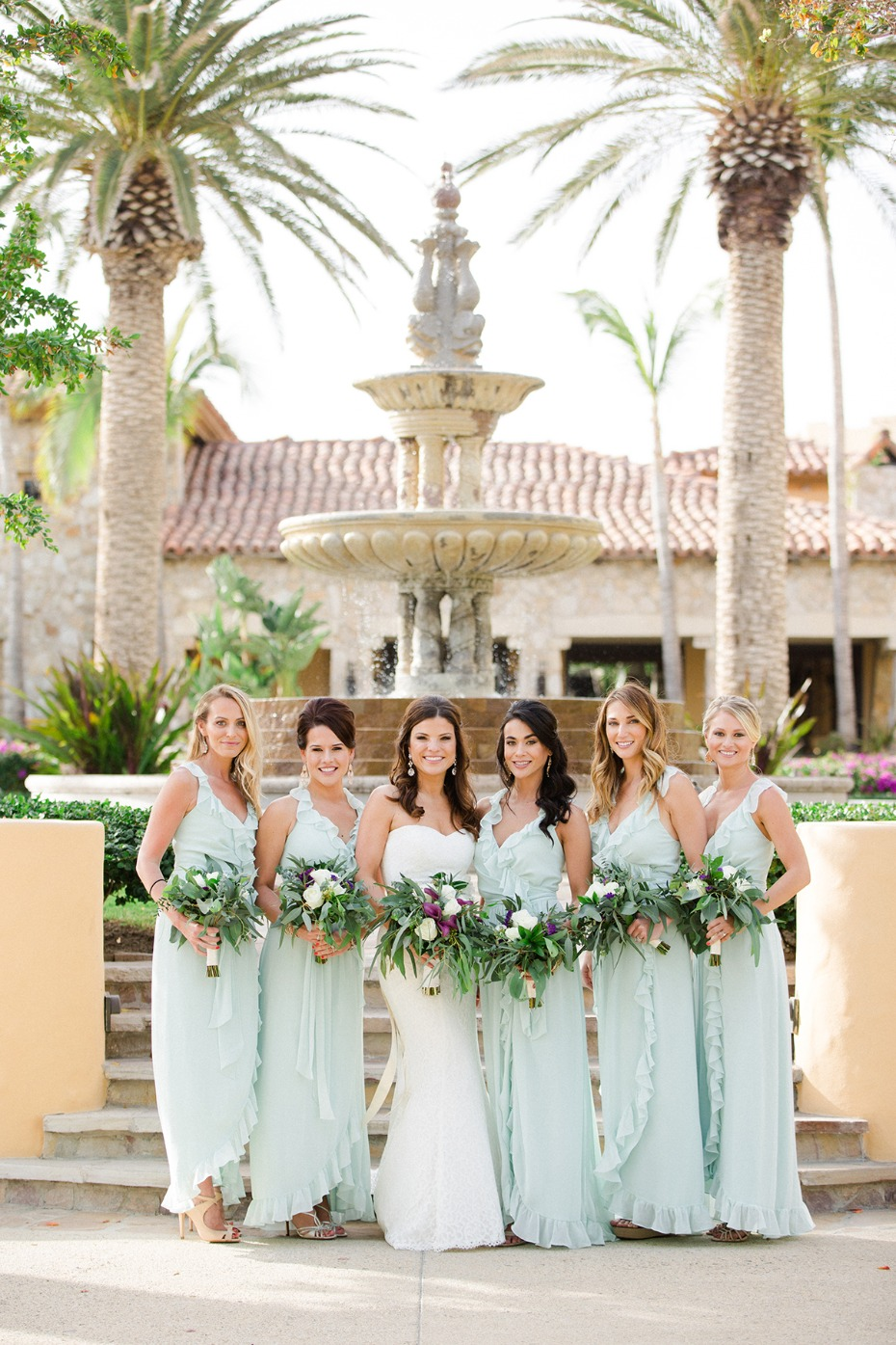 sea foam bridesmaid dresses