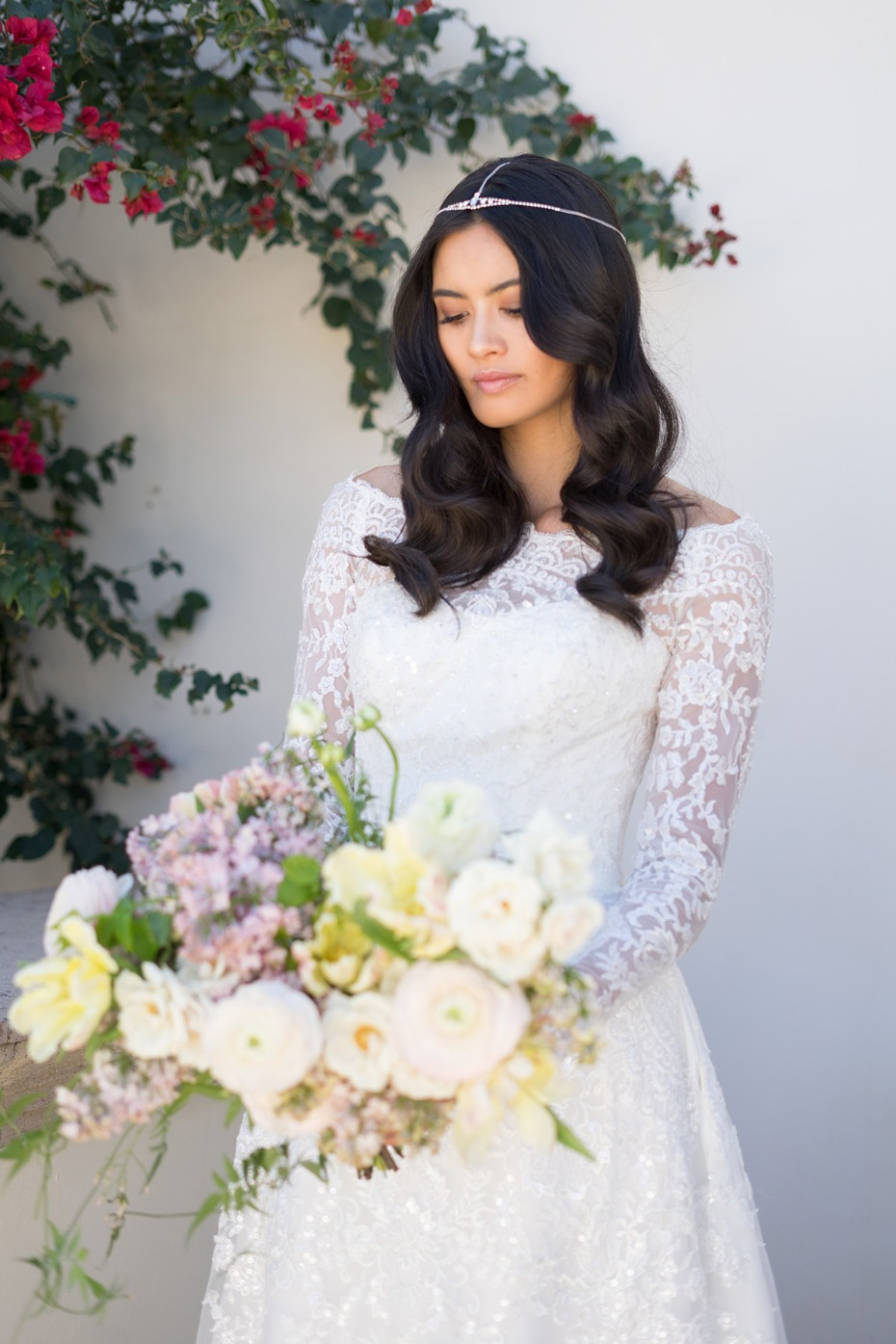 Oleg Cassini Exclusively for David's Bridal Off-the-Shoulder Lace A-Line Wedding Dress, $1,358