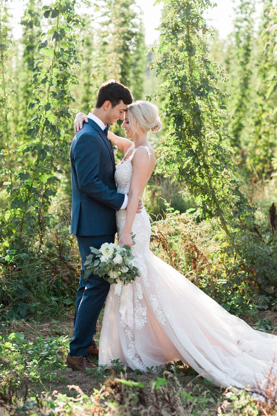 Hops farm wedding in Oregon