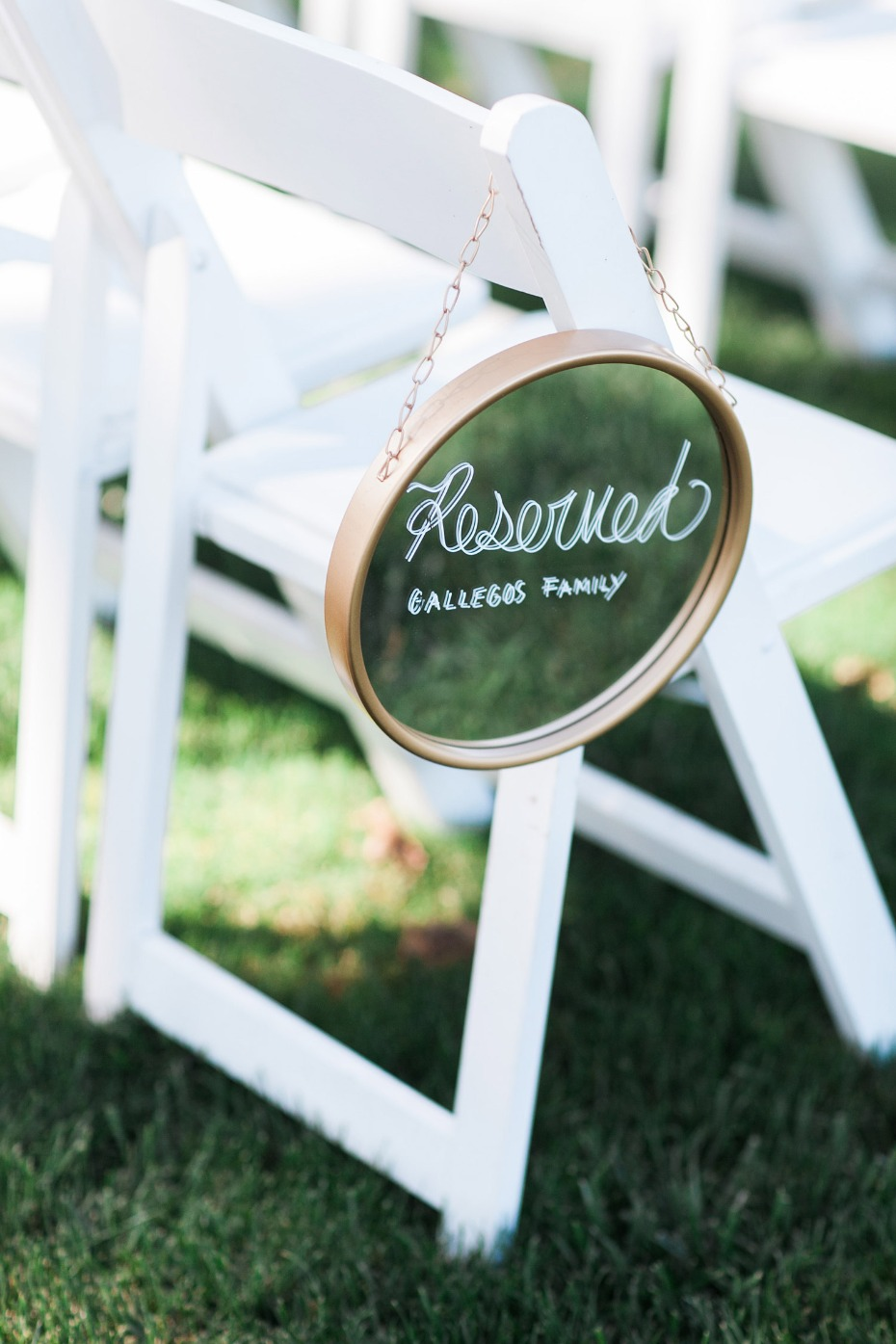 Reserved seating sign idea