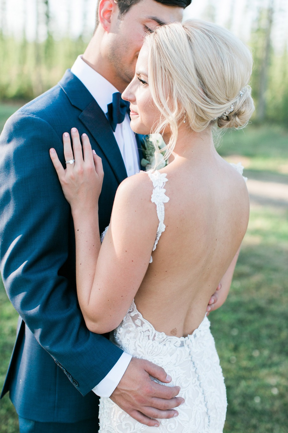 Low back wedding dress from Essense of Australia