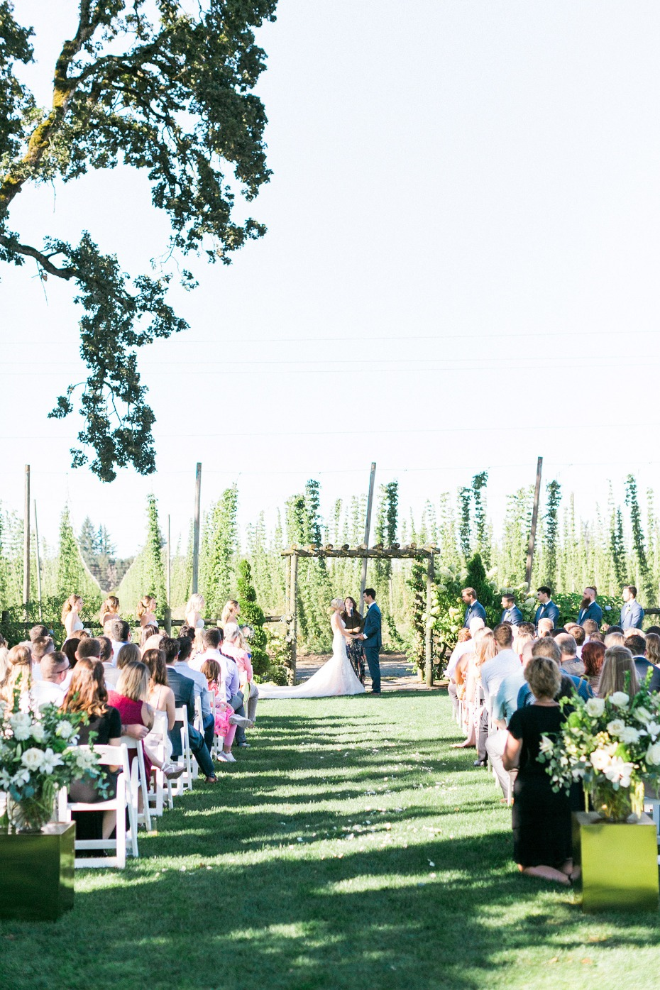 Hops farm ceremony in Oregon