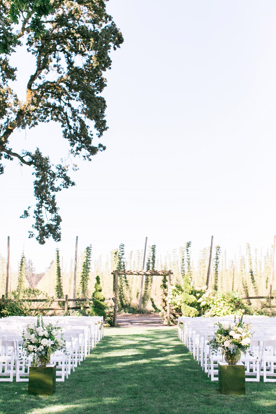 Wilmes Hop Farm ceremony in Oregon