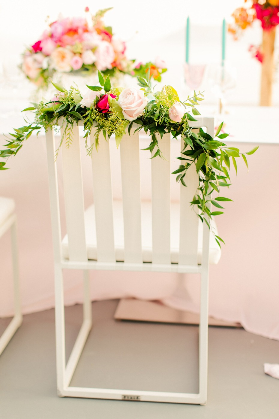 floral wedding seats