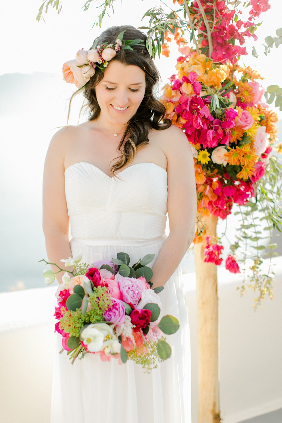 Bright and colorful bridal style