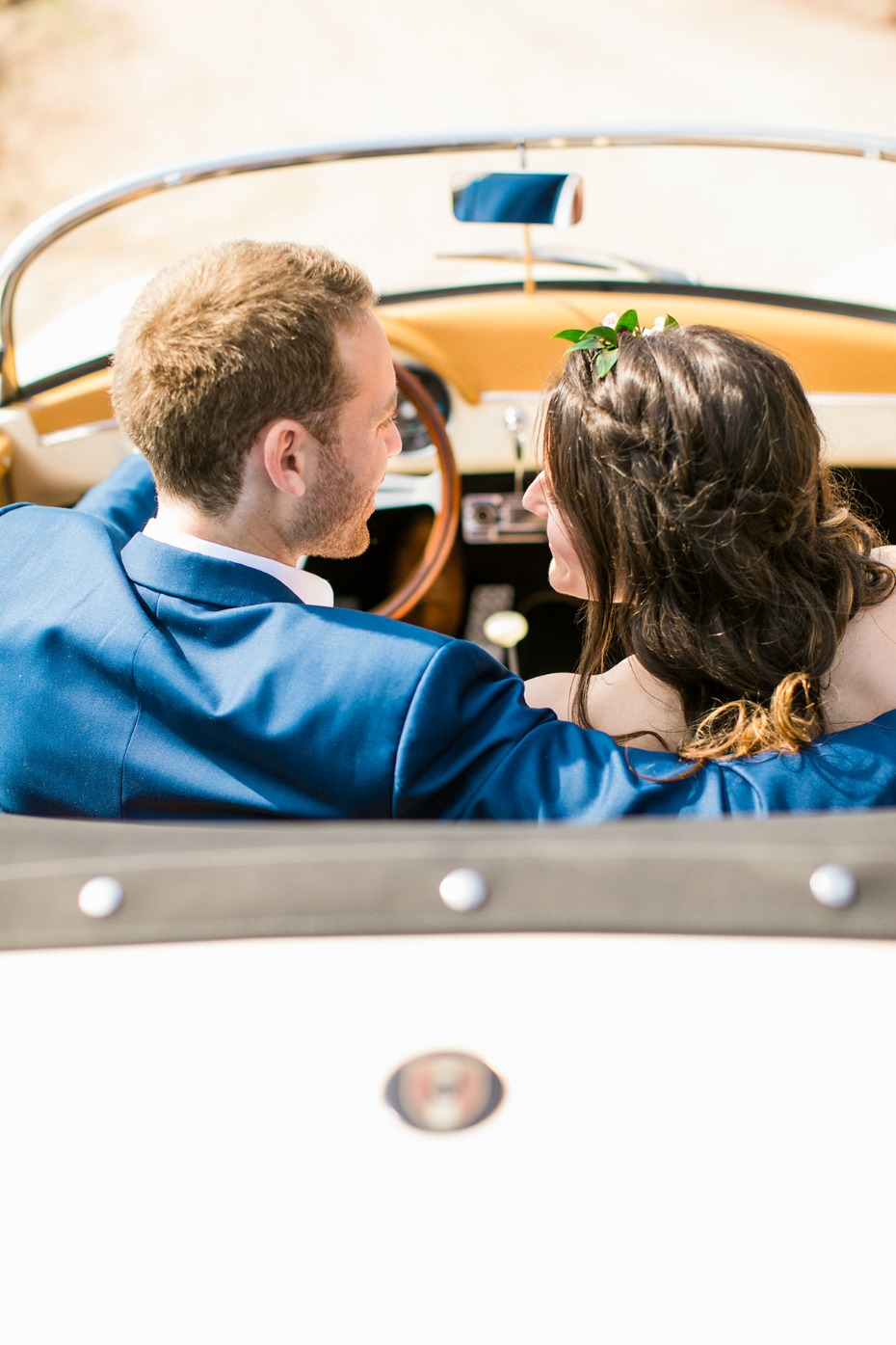 vintage wedding ride