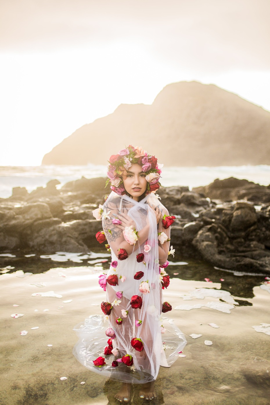 Bridal portrait session in Hawaii