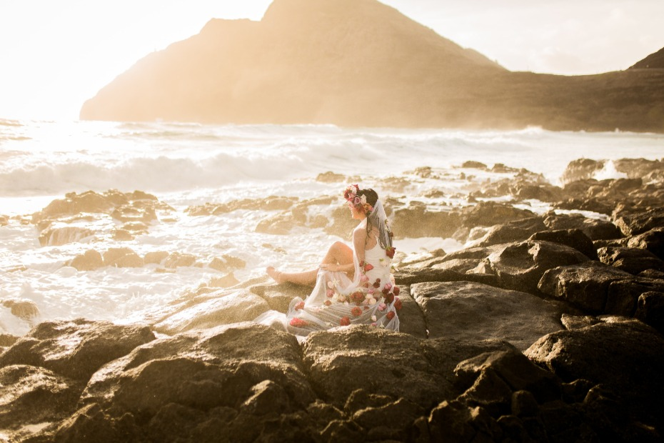 Sunrise bridal portrait session