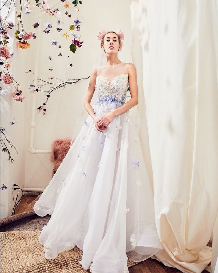 Lavender Colored Wedding Gown by Samantha Sleeper