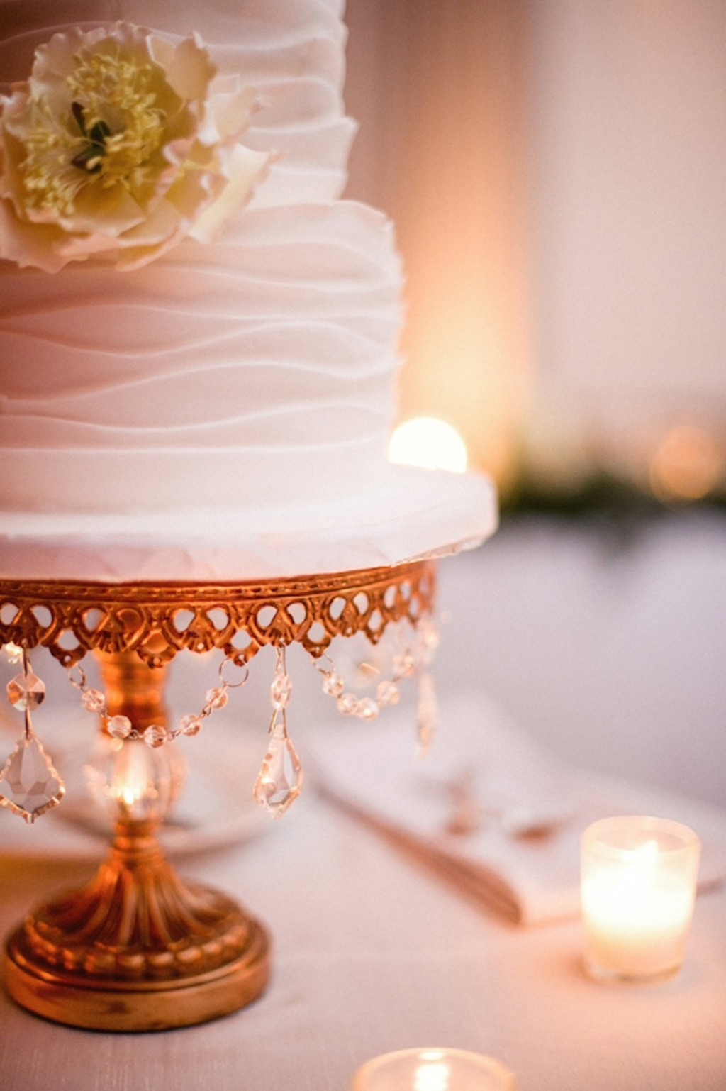 Opulent wedding cakes on Opulent Treasures cake stands. Discover our unique collection of entertaining and home decor pieces that will