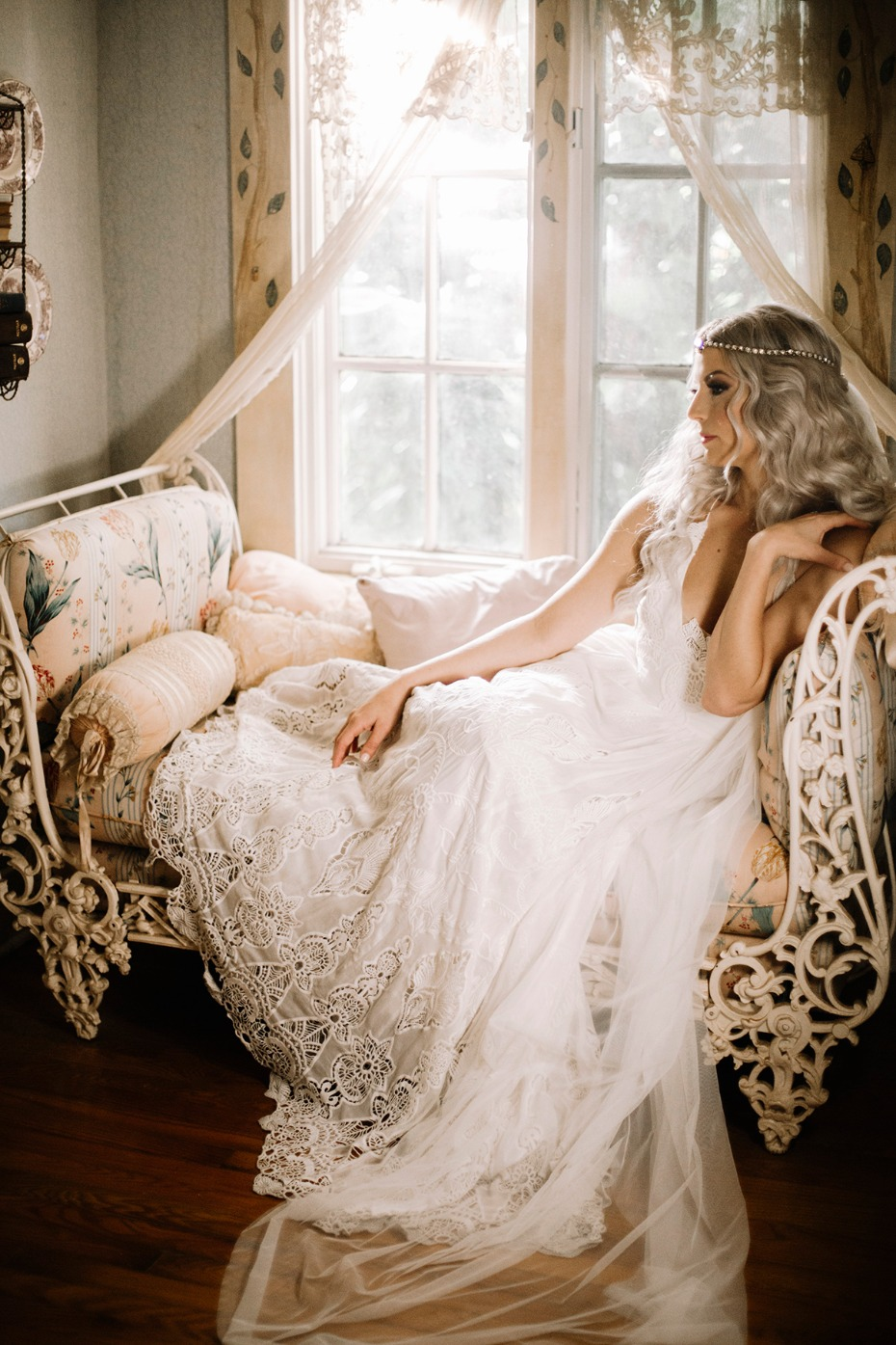 romantic bridal photo idea