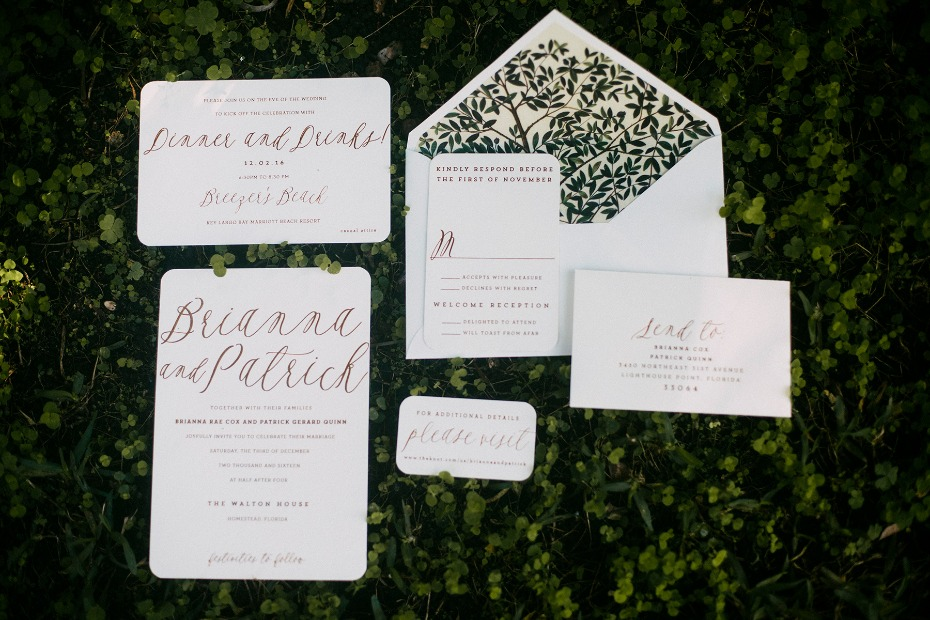 elegant garden themed wedding invitations