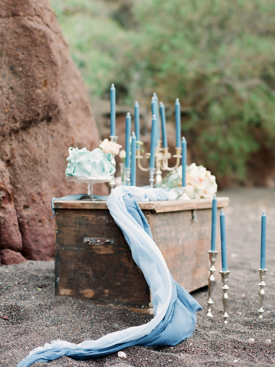 vintage sea chest wedding cake table for your beach wedding
