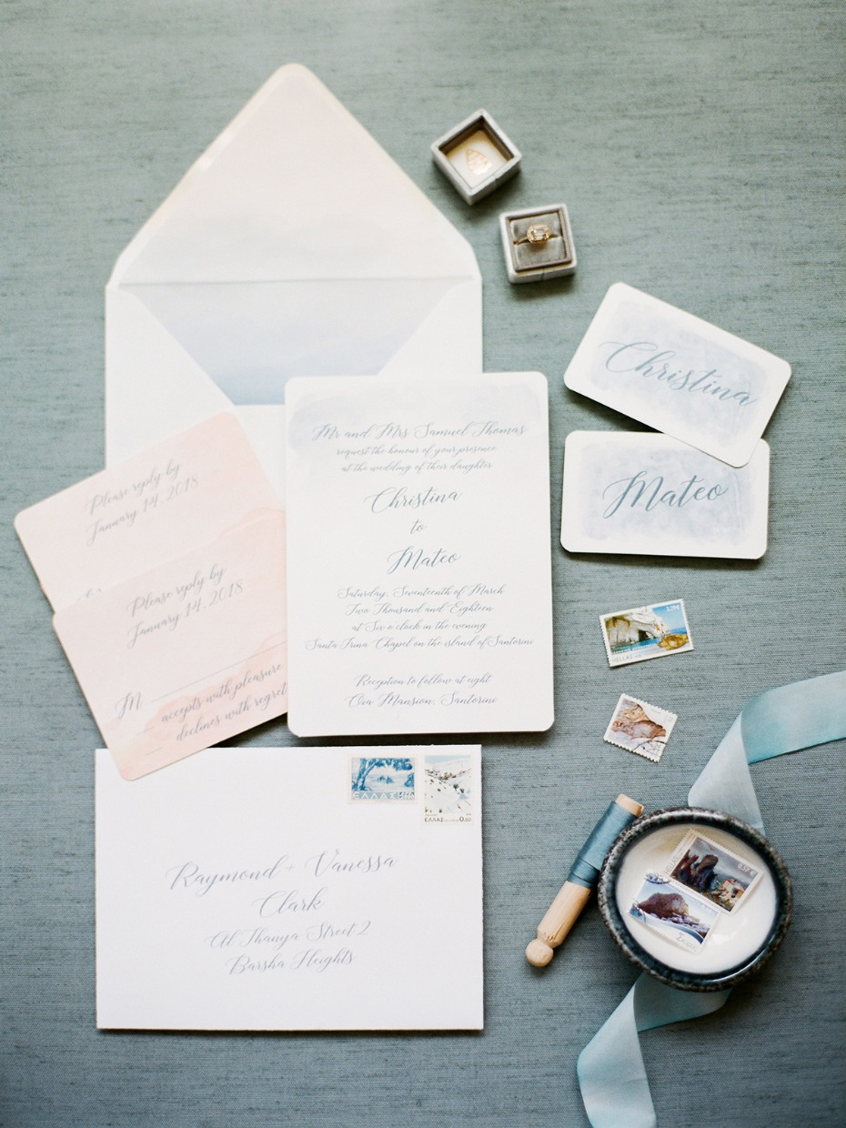 soft watercolors wedding invitations