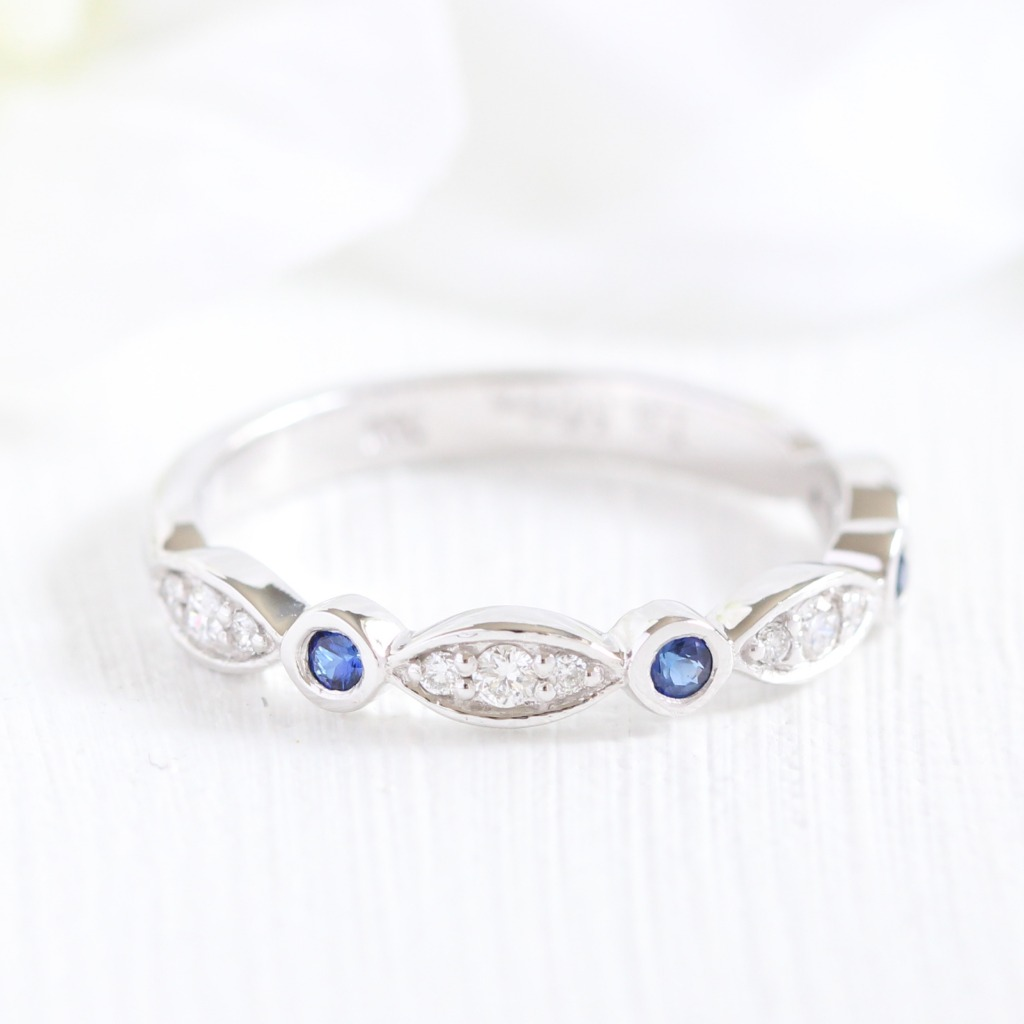 Pair your engagement ring with a beautifully handcrafted and unique wedding band by La More Design! See more of our Women's Wedding