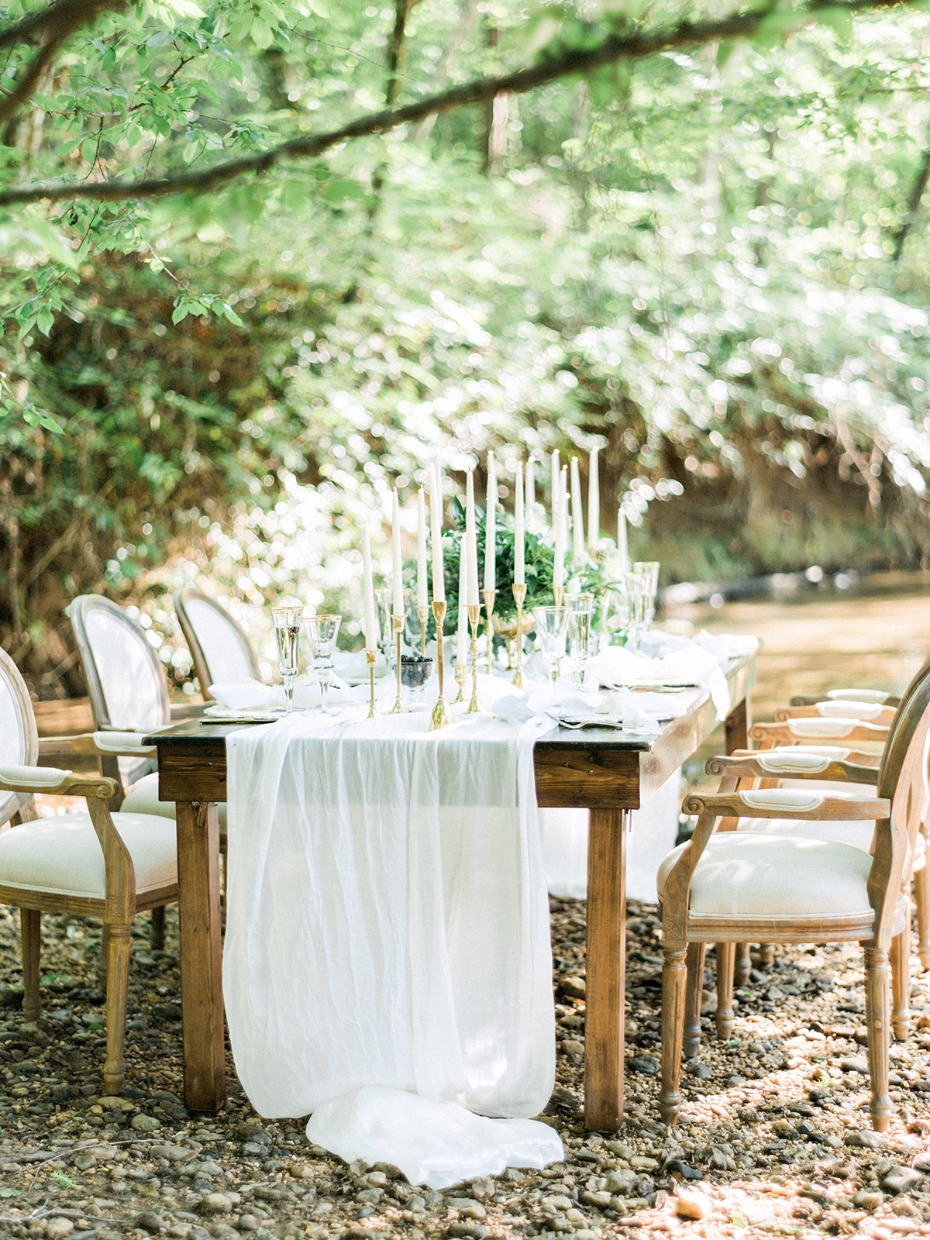 secret forest wedding reception table