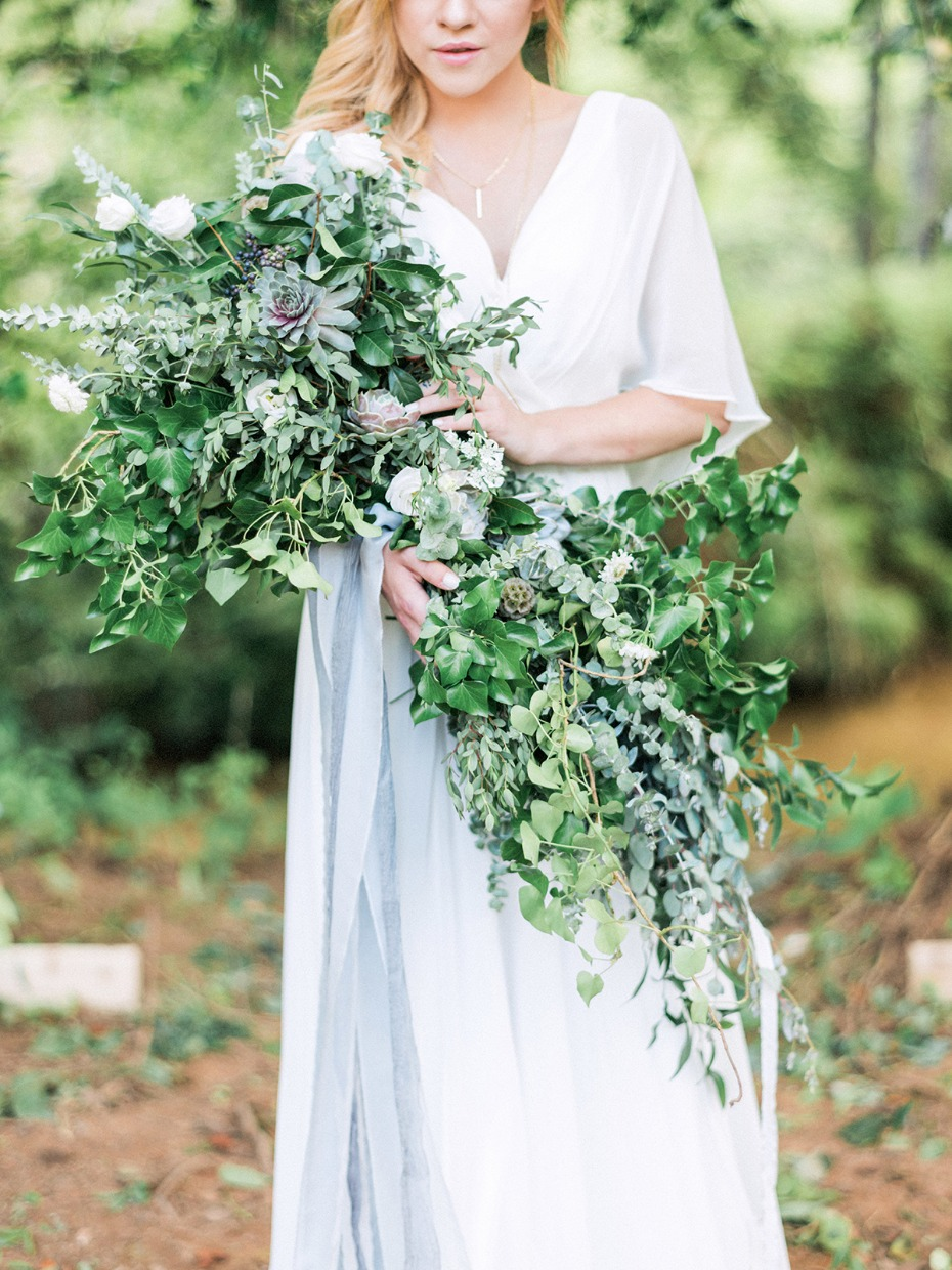 wildflower cascading double ended bouquet