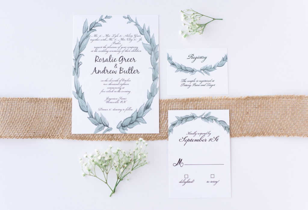 Rustic chic wedding invitation designs are a great style choice for a summertime wedding. This is the Leafy Love Wedding Invitation