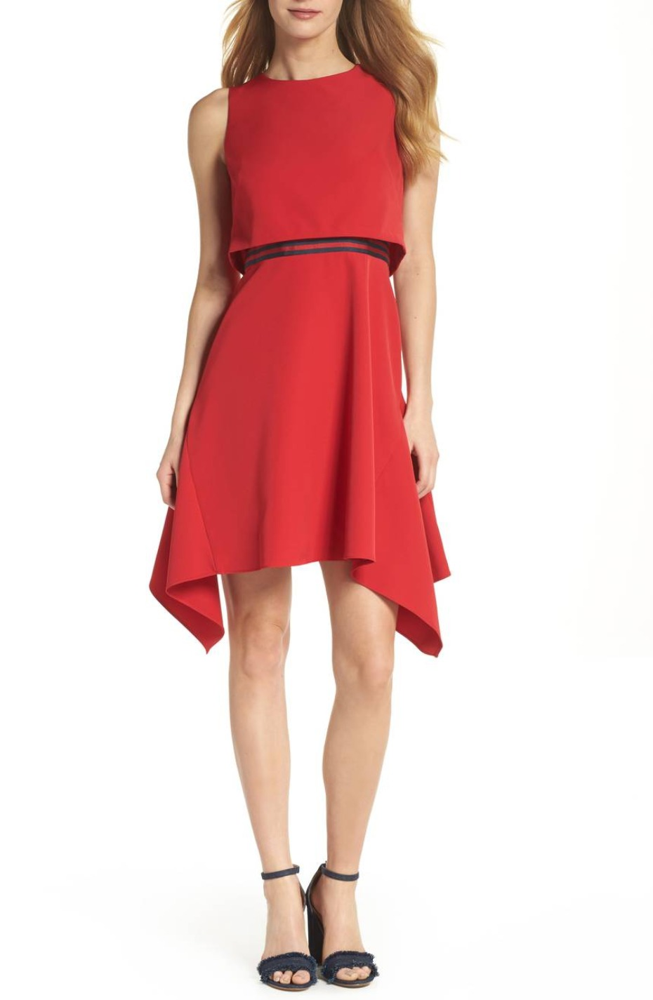 Julia Jordan Red Popover Dress