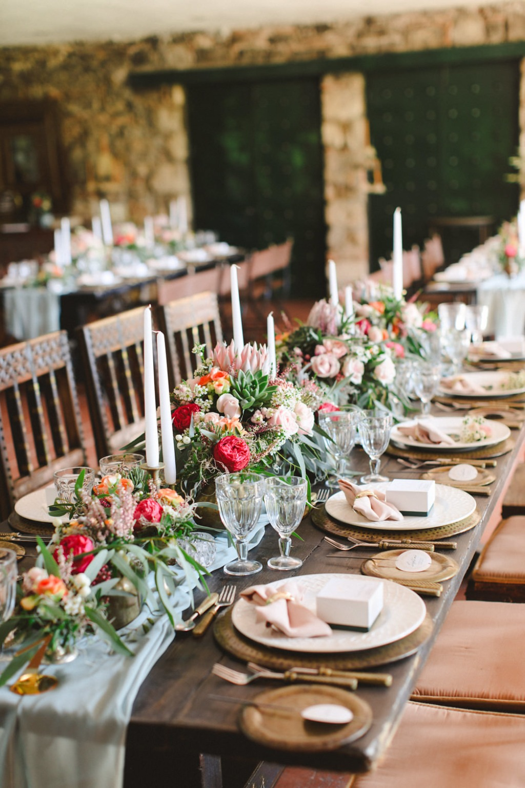 This Athens wedding was dripping with elegance and timeless details: brass vintage candles, lush florals and bronze accents!