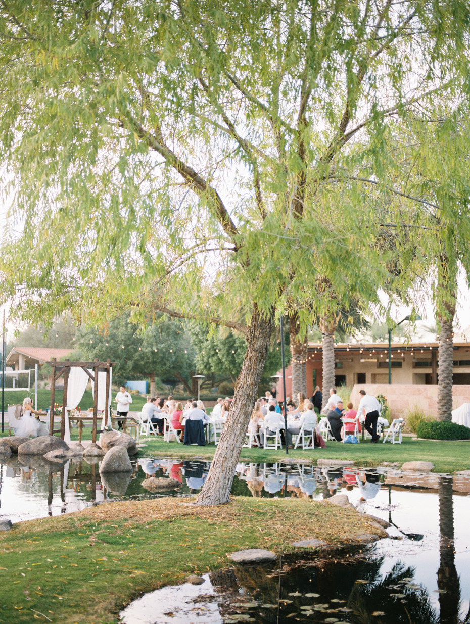Outdoor reception in Arizona