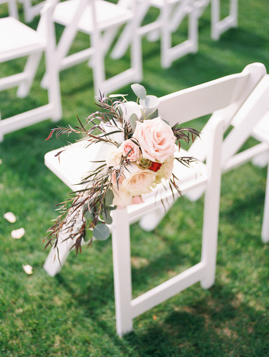 Chair floral decor