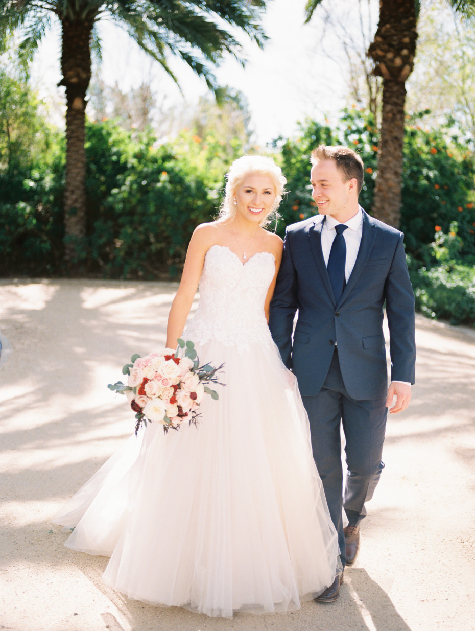 Sun kissed Arizona wedding