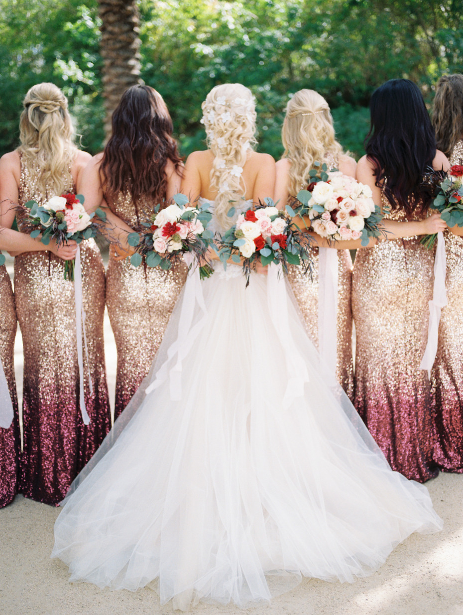 OMG sparkle bridesmaids dresses