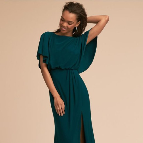 BHLDN Emerald Lena Dress