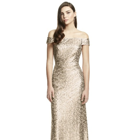 The Dessy Group Gold Sequin