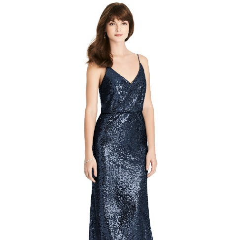 The Dessy Group Midnight Bridesmaid Dress