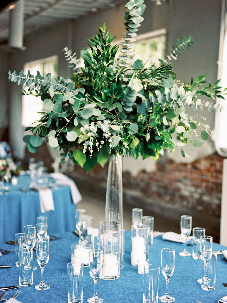 floating greenery centerpiece