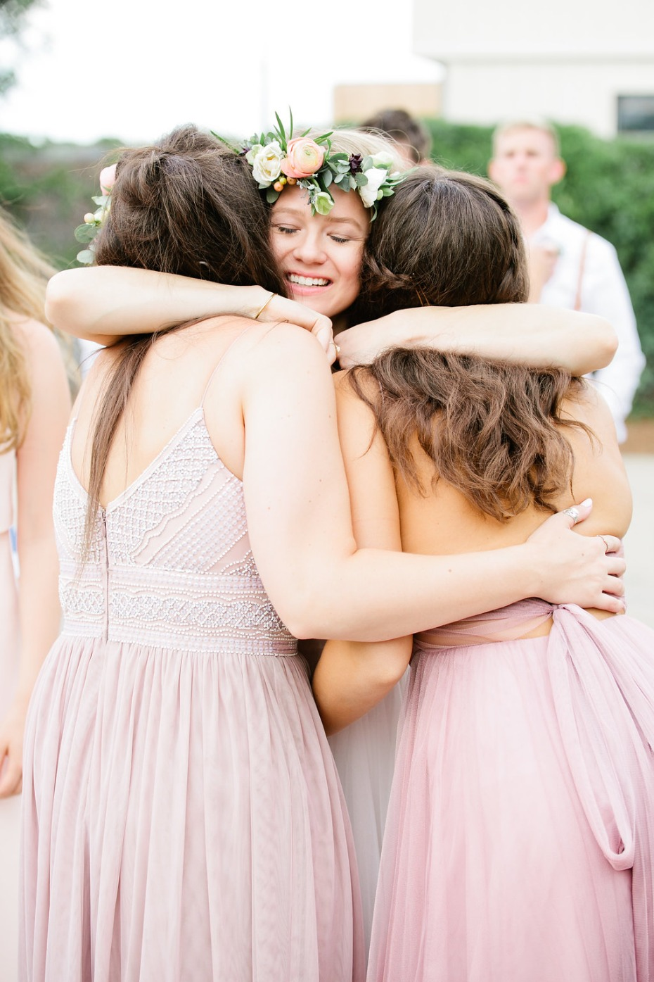 a bride and her besties