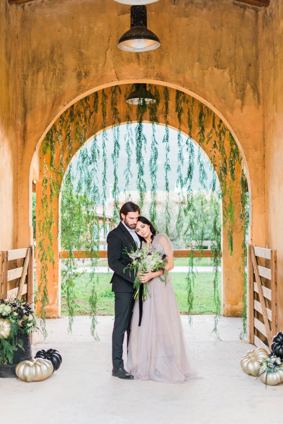 Equestrian-chic modern farm wedding