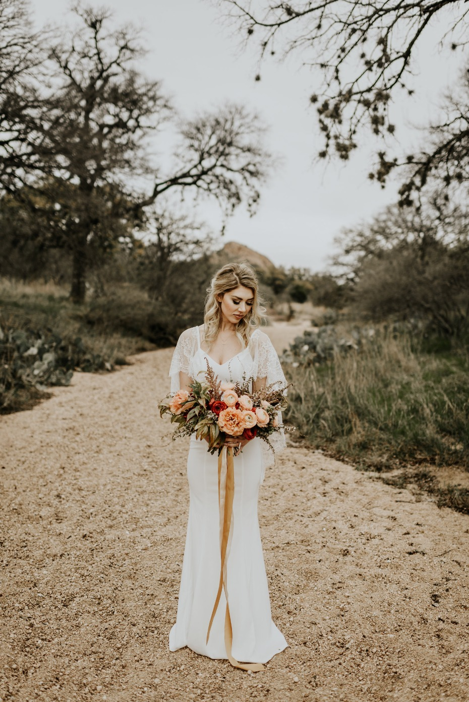 Gorgeous boho bridal look