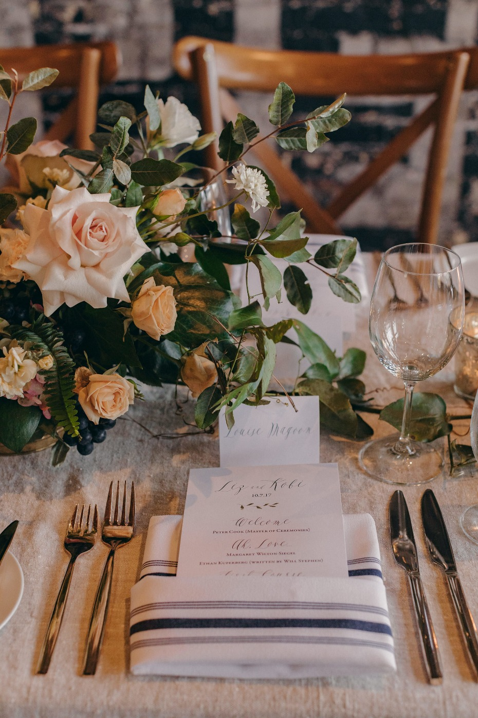 Simple chic place setting