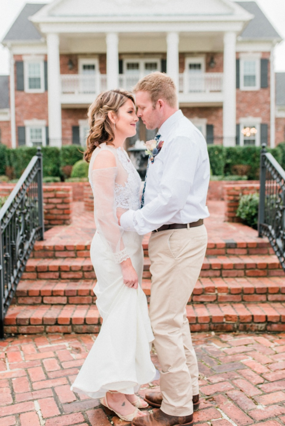 cute bride and groom portraits