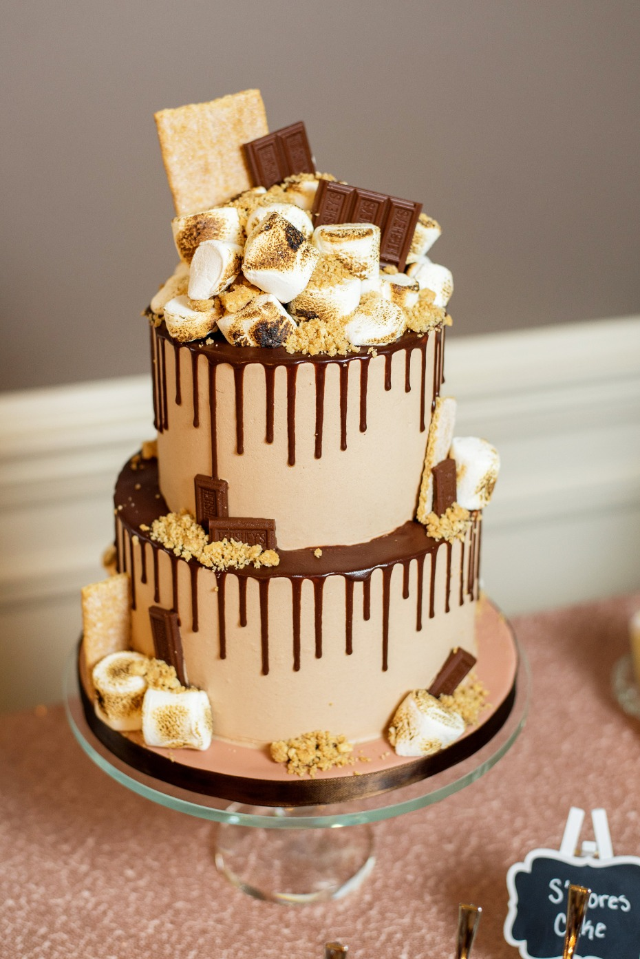 smores grooms wedding cake