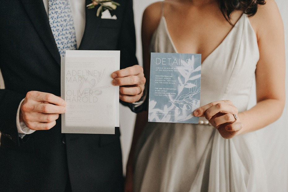 wedding stationery with a modern vibe