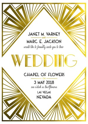 Art Deco Free Printable Wedding Invites