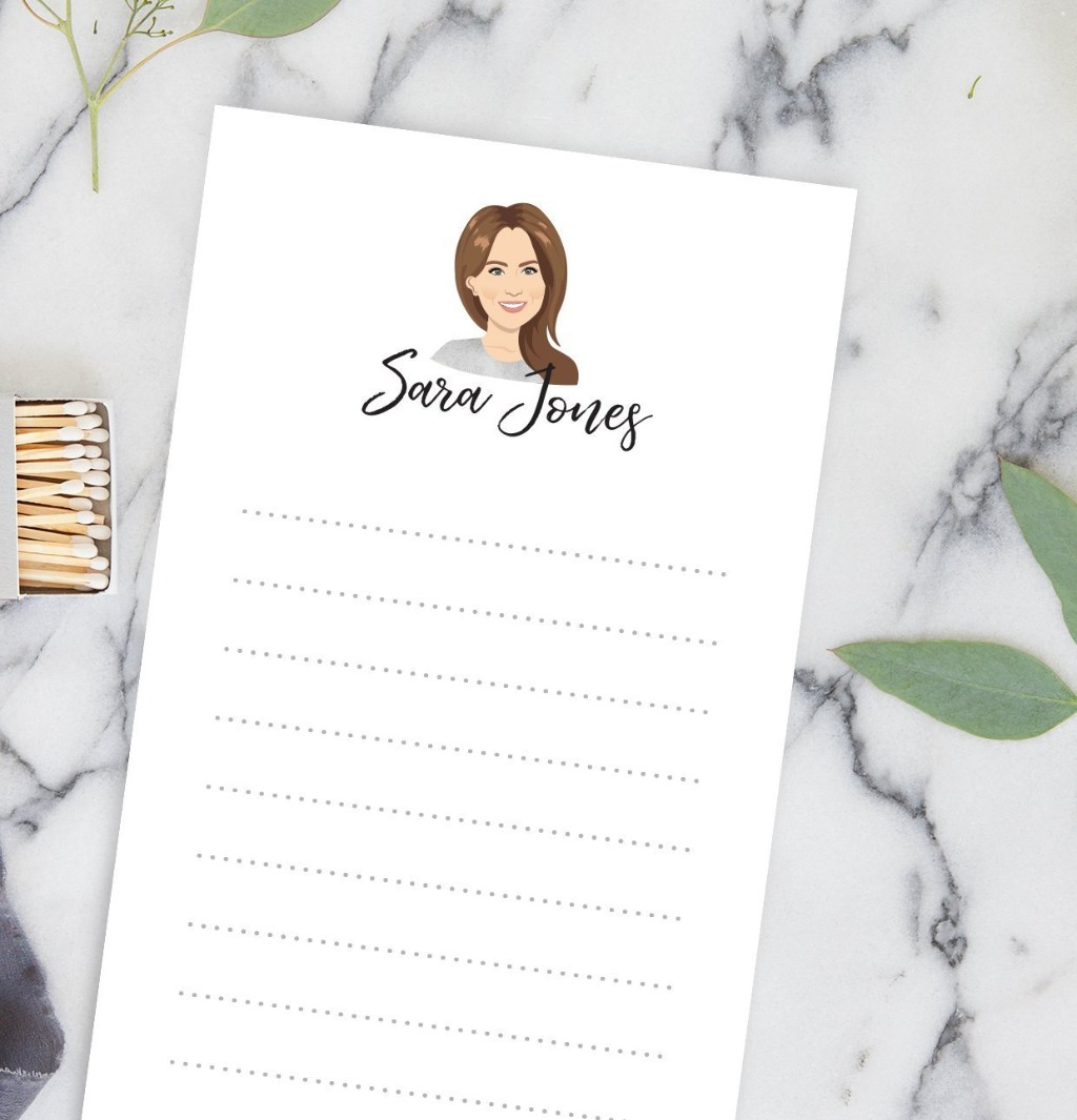 Trying to figure out the perfect gift for your grad? Consider this amazing portrait illustrated notepad from Miss Design Berry!! This